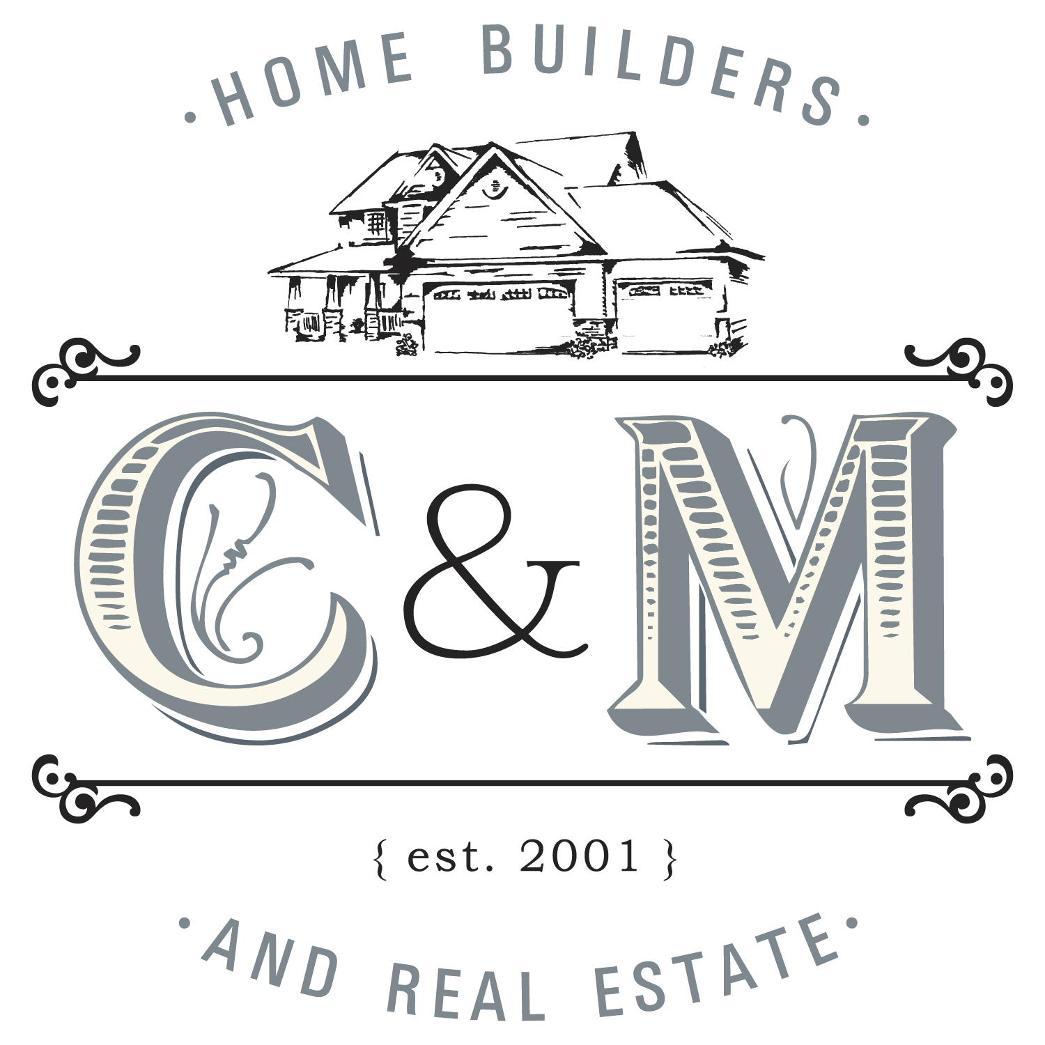 C&M Home Builders and Real Estate Logo