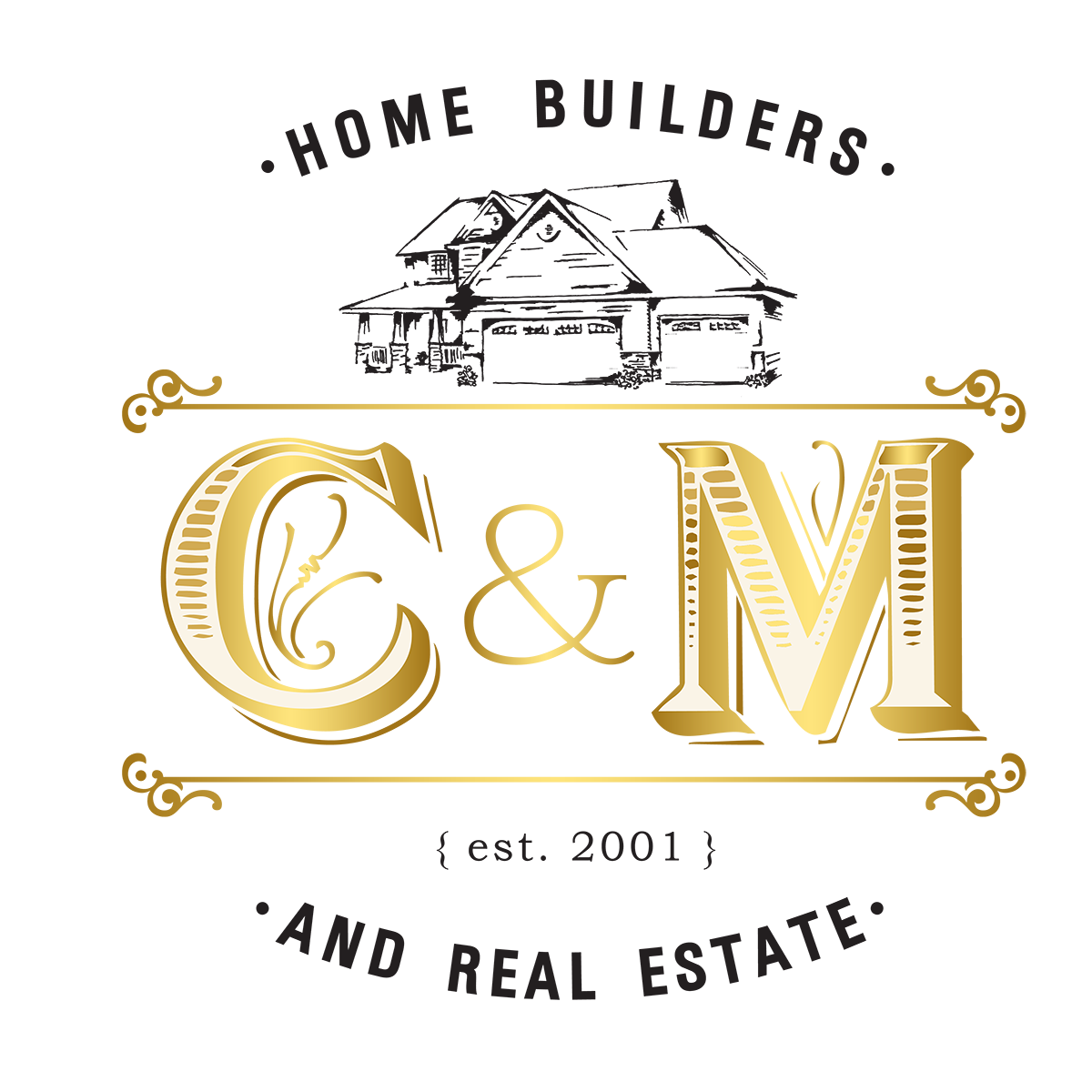 Chris Becker - C&M Home Builders and Real Estate Logo