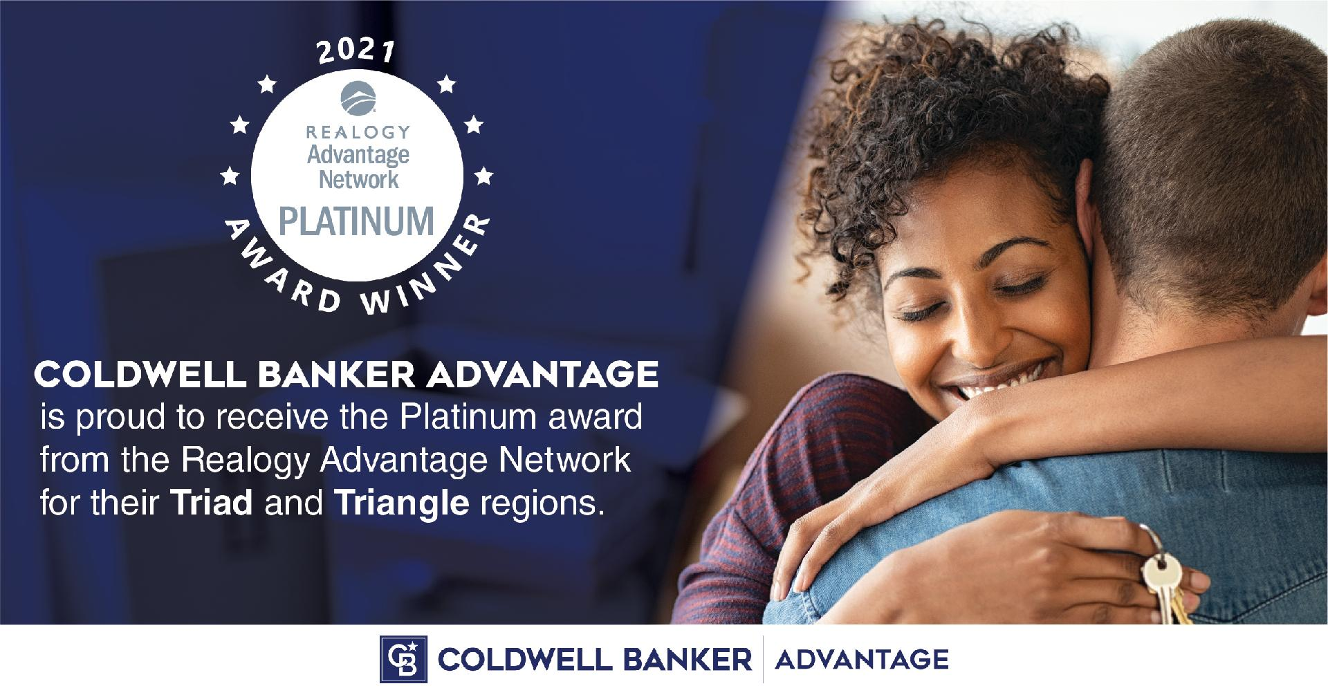 COLDWELL BANKER ADVANTAGE NAMED PLATINUM AWARD WINNER BY REALOGY LEADS GROUP Main Photo