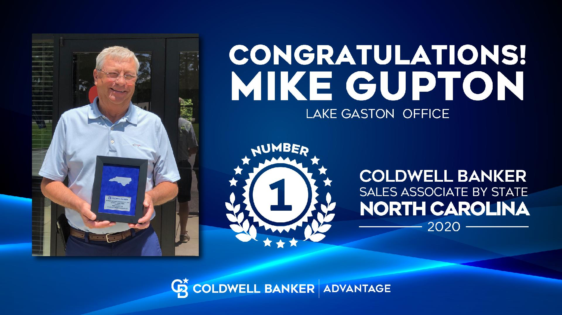 Mike Gupton Awarded As The #1 Coldwell Banker Real Estate Agent In NC Picture