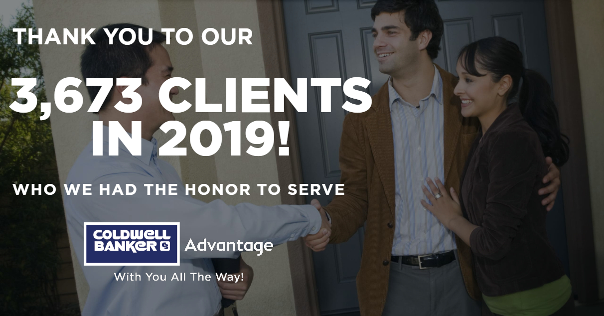 Coldwell Banker Advantage Agents Served Over 3,600 Clients in 2019 Surpassing 1 Billion In Sales. Main Photo