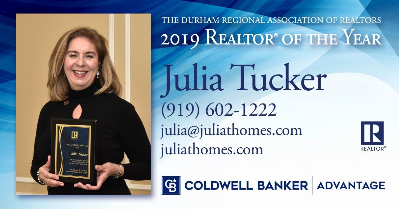 CBA REALTOR® Julia Tucker Honored As REALTOR® of the year by the Durham Regional Association of REALTORS® Main Photo