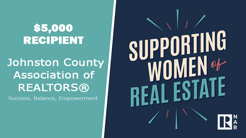 Johnson County Association of REALTORS® Receives the Supporting Women of Real Estate Grant from NAR Main Photo