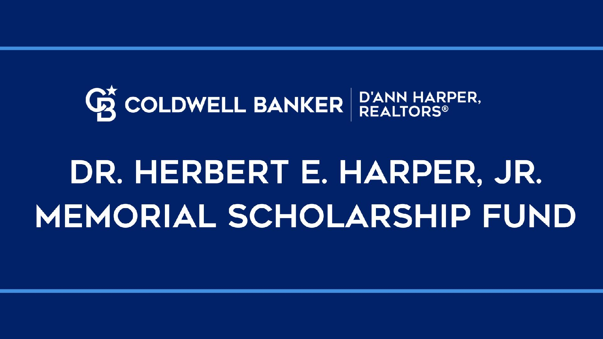 Accepting Applications for the 2021 Dr. Herbert E. Harper, JR. Memorial Scholarship Fund Main Photo