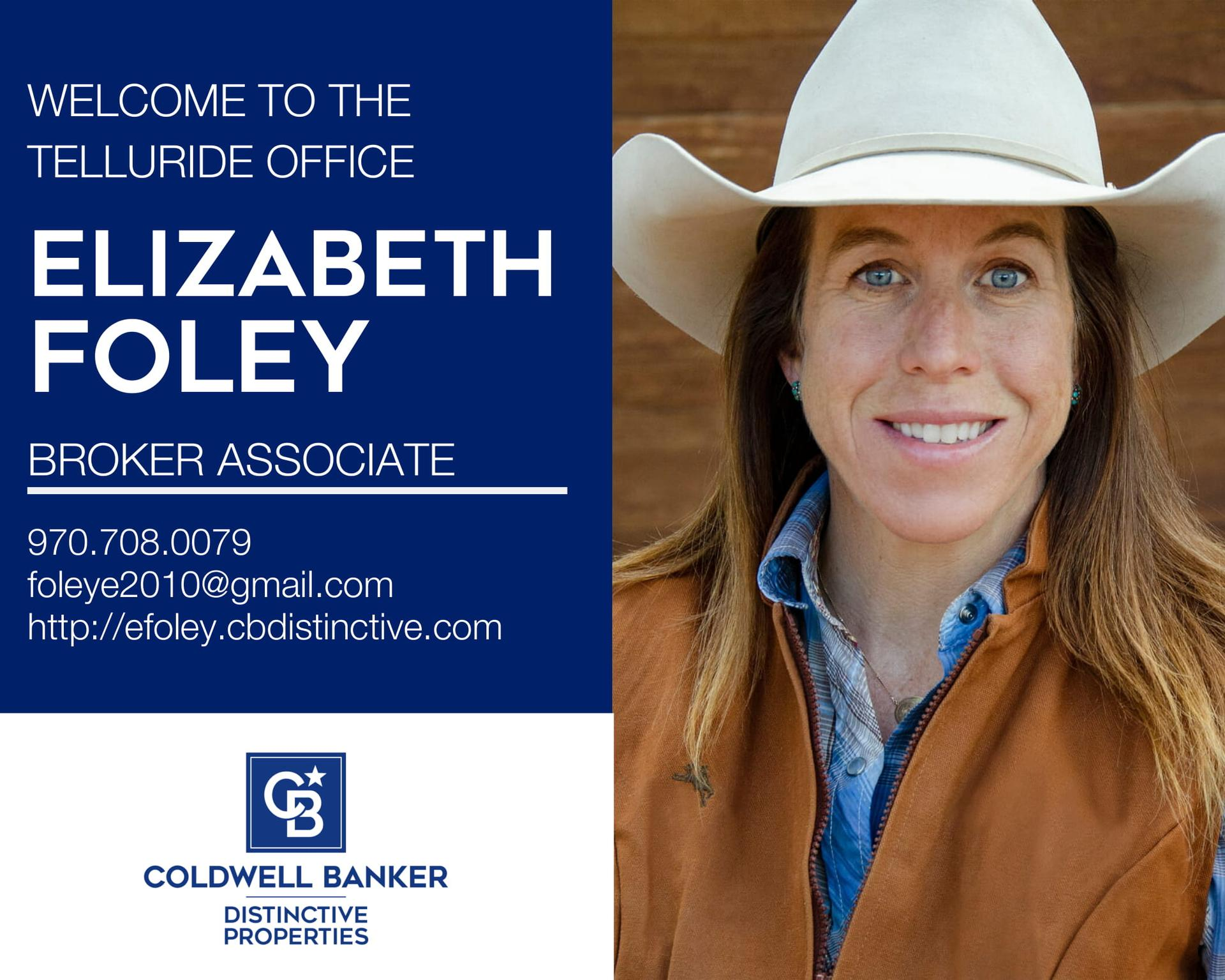 Please help us welcome Elizabeth Foley to our Coldwell Banker family! Main Photo