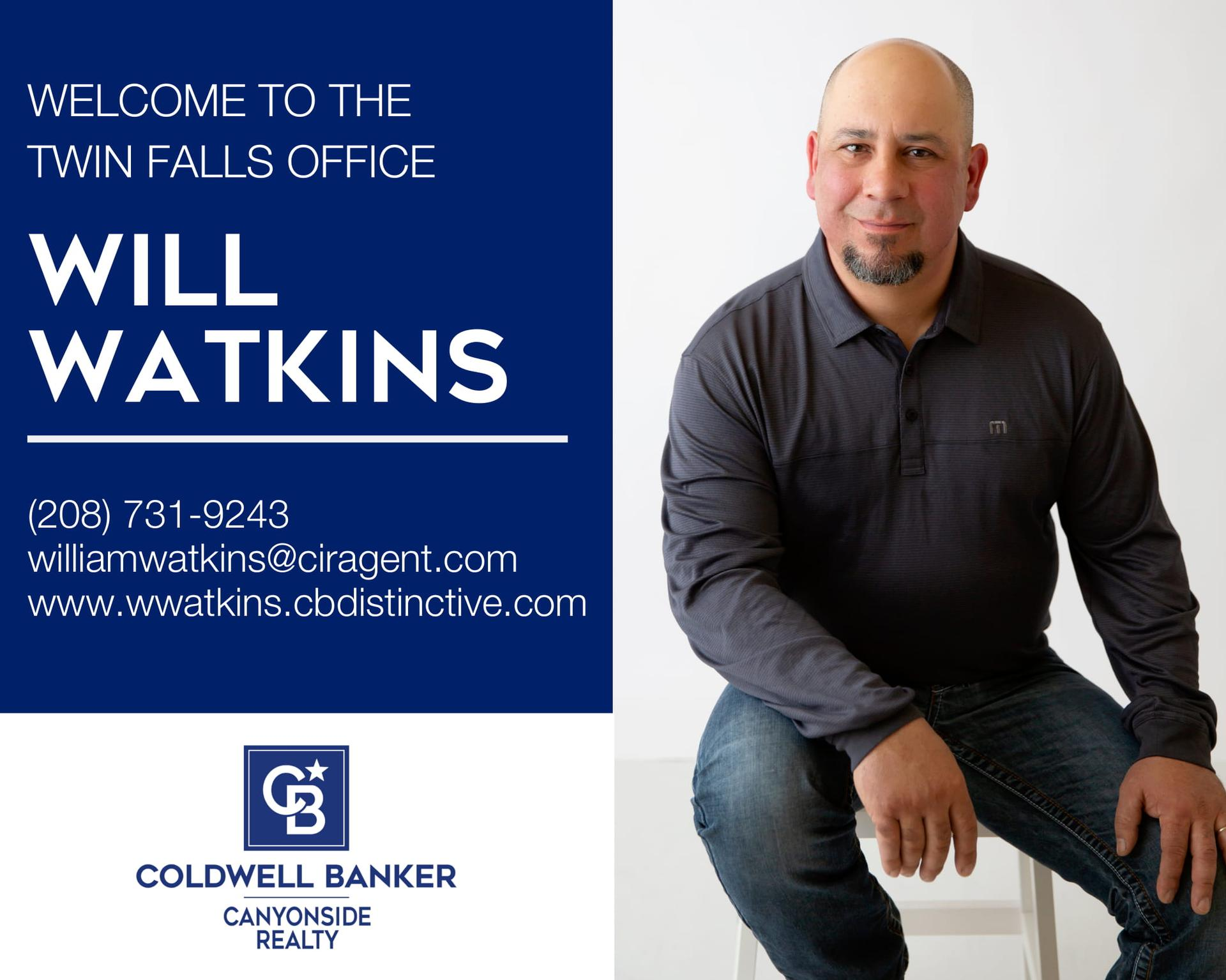 Please help us welcome Will Watkins to our Coldwell Banker Canyonside Realty family! Main Photo