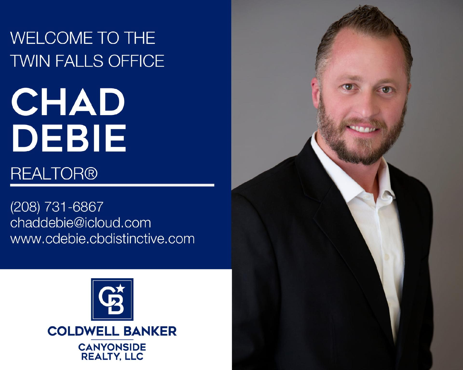 Please help us welcome Chad DeBie to our Coldwell Banker family! Main Photo