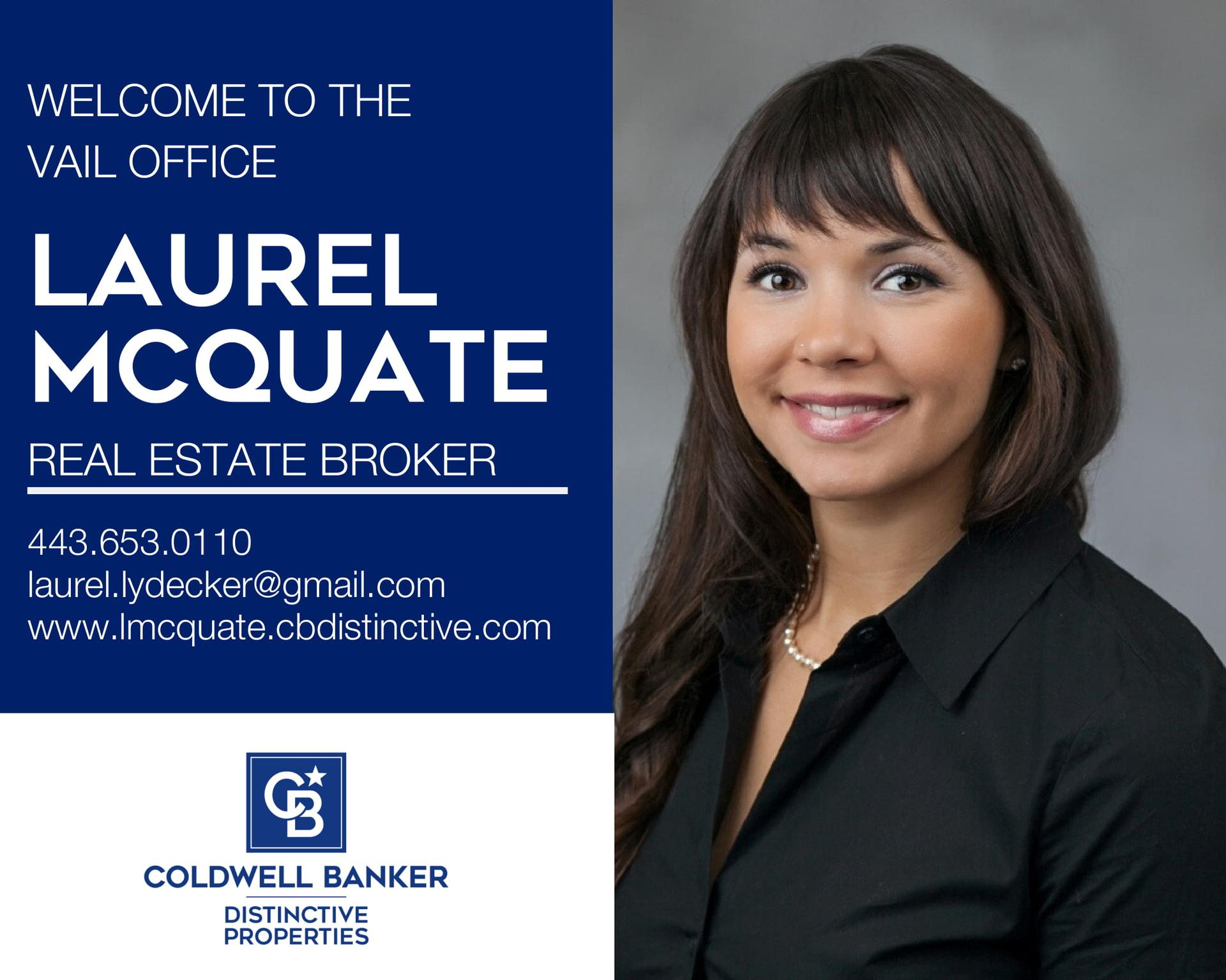 Please help us welcome Laurel McQuate to our Coldwell Banker family! Main Photo