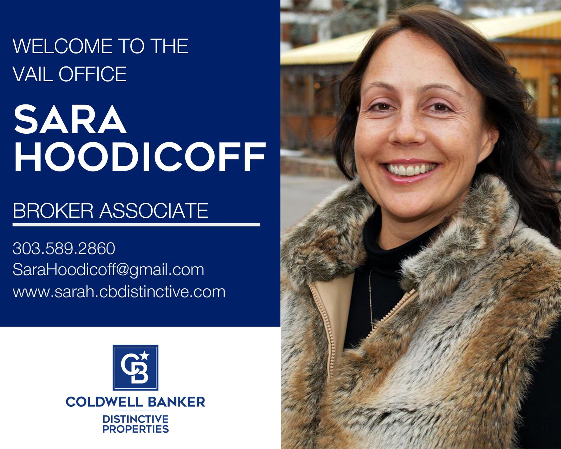 Please help us welcome Sara Hoodicoff back to our Coldwell Banker family! Main Photo