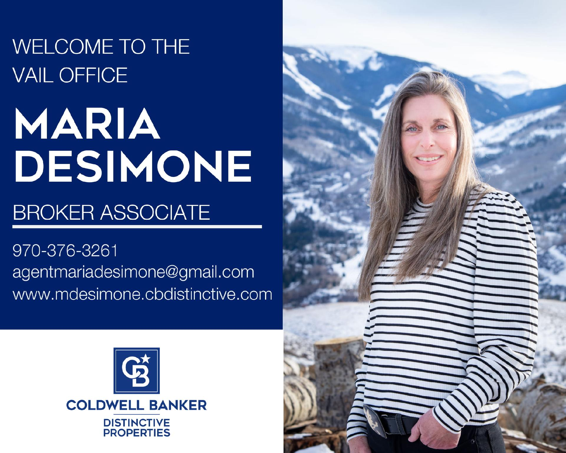 We are excited that Maria DeSimone has joined our Coldwell Banker Family! Main Photo