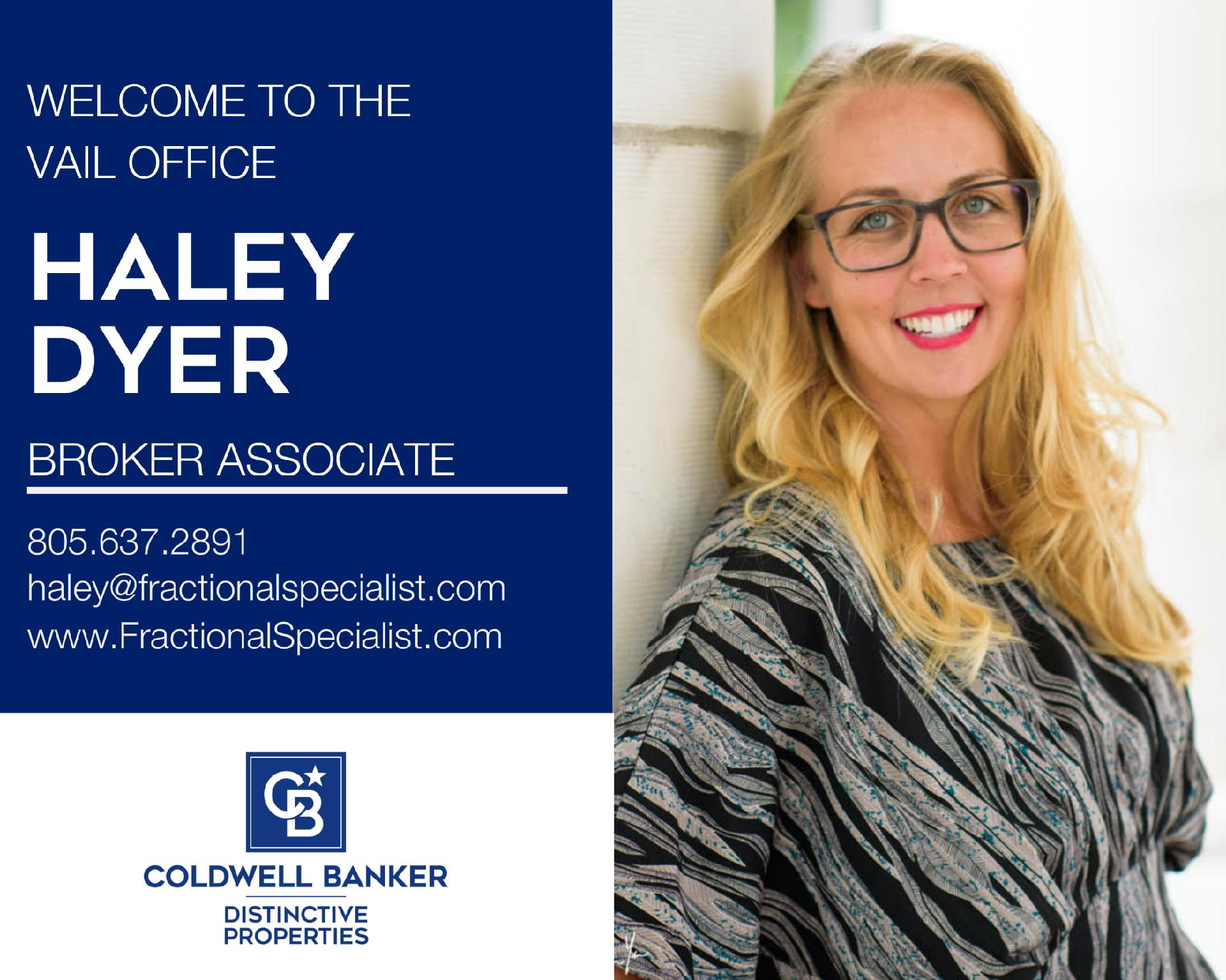 Please help us welcome Haley Dyer to our Coldwell Banker family! Main Photo