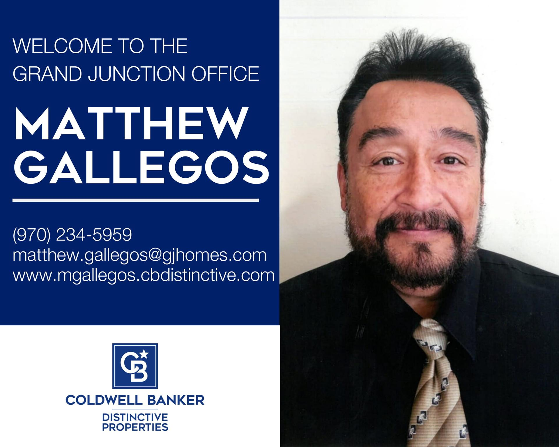 Please help us welcome Matthew Gallegos to our Coldwell Banker family! Main Photo