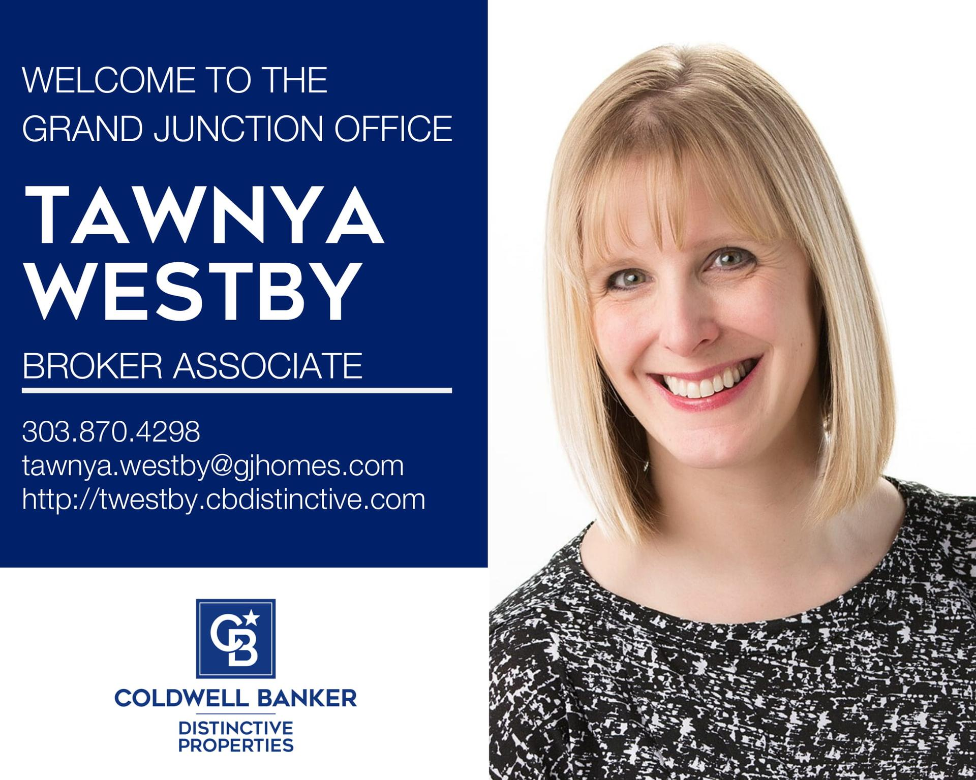 Please help us welcome Tawnya Westby to our Coldwell Banker family! Main Photo