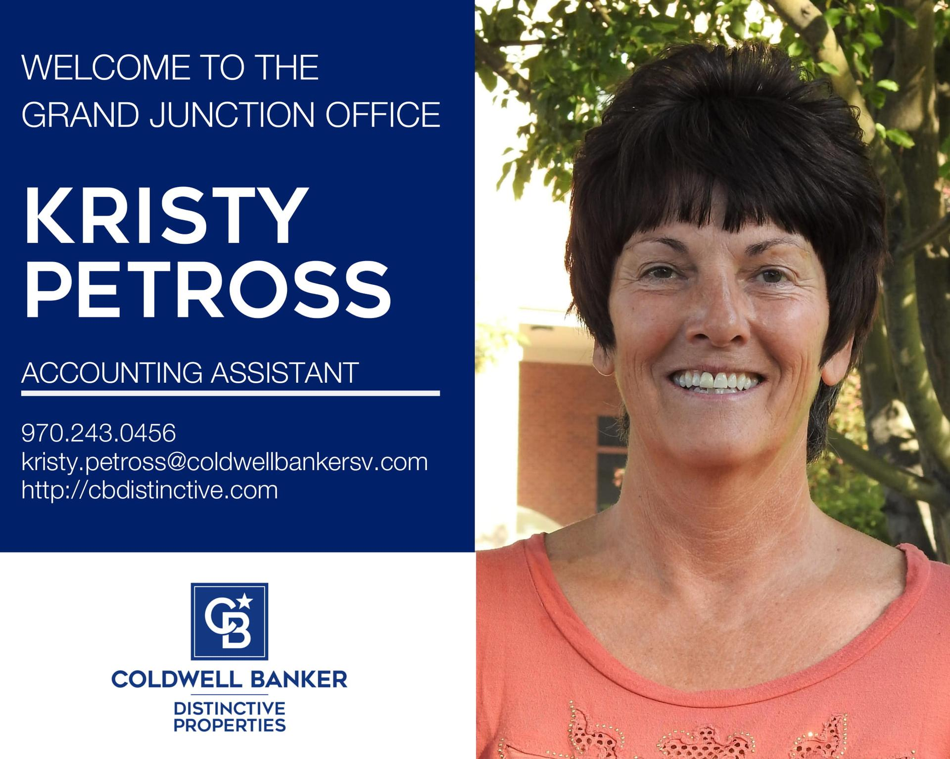 Please help us welcome Kristy Petross to our Coldwell Banker family- Main Photo