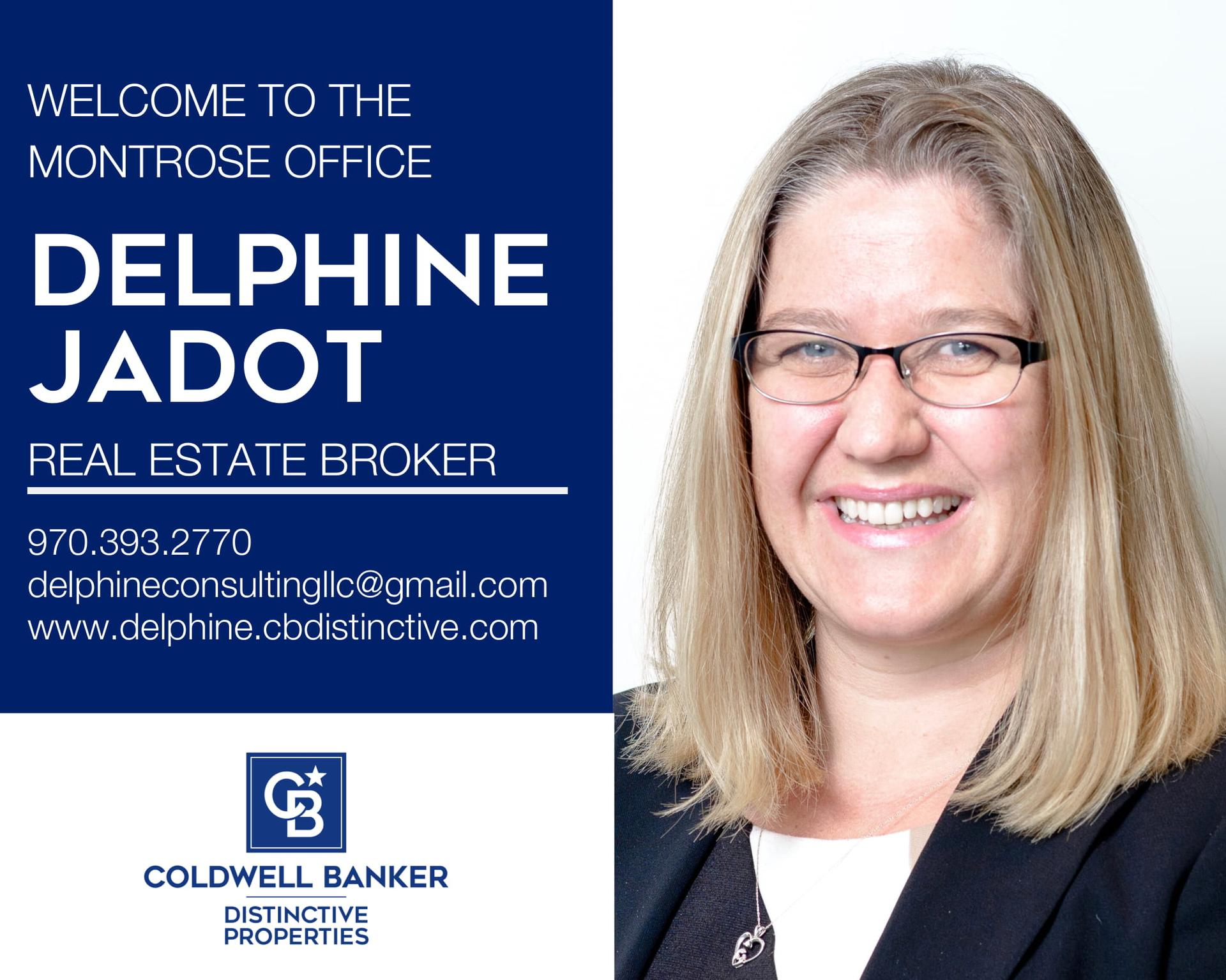 Please help us welcome Delphine Jadot to our Coldwell Banker Distinctive Properties - Montrose office. Main Photo