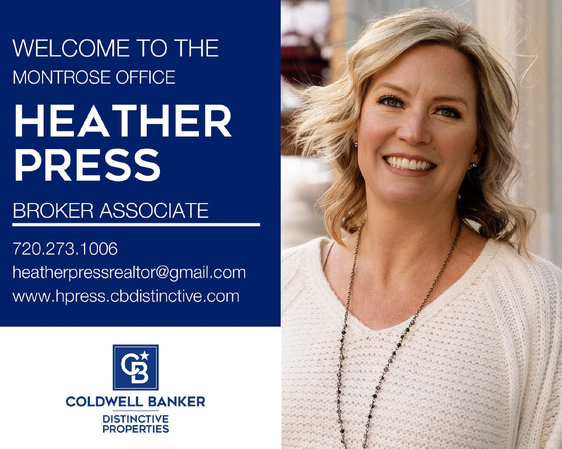 Please help us welcome Heather Press to our Coldwell Banker family! Main Photo