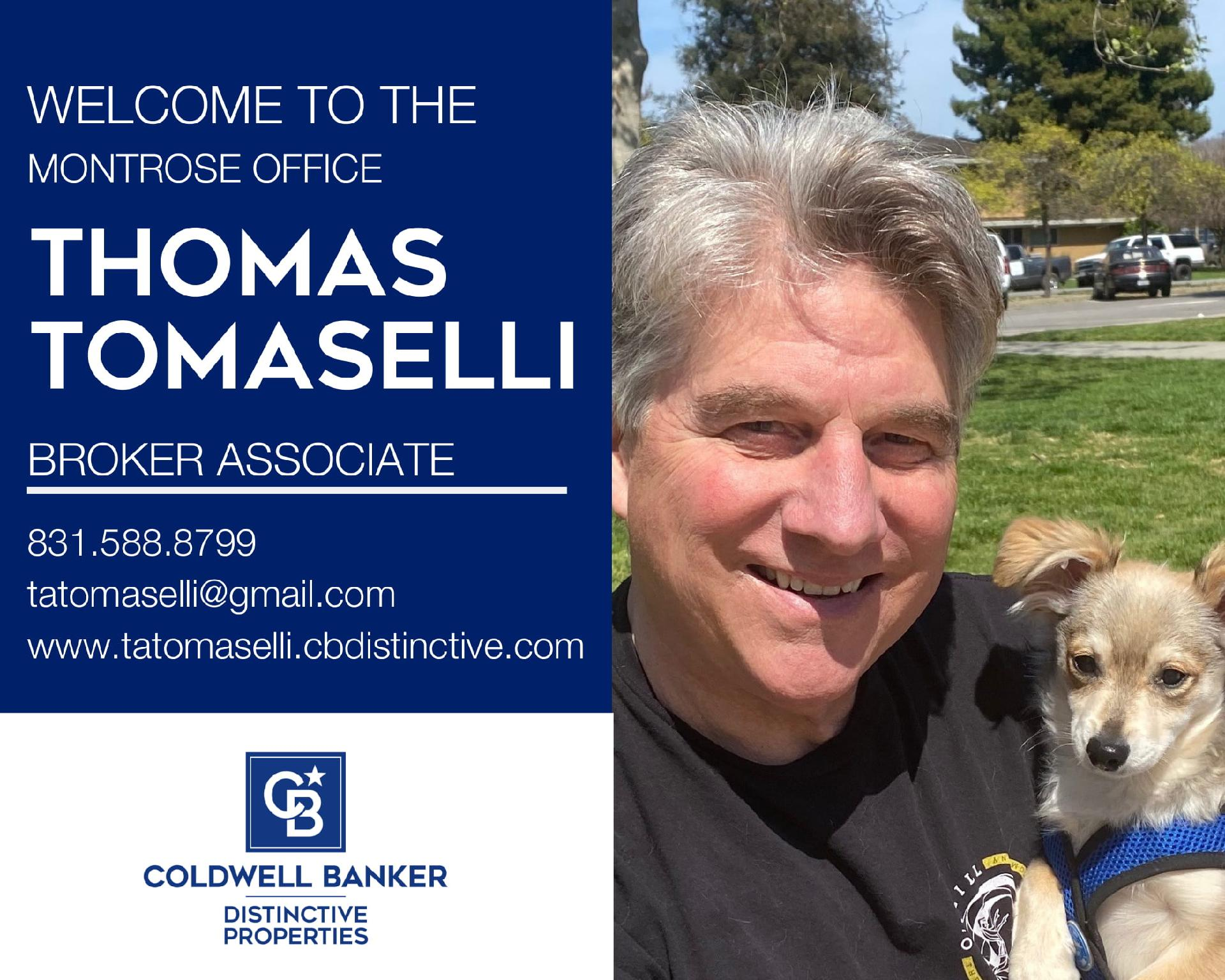 We are excited that Thomas Tomaselli has joined our Coldwell Banker family! Main Photo