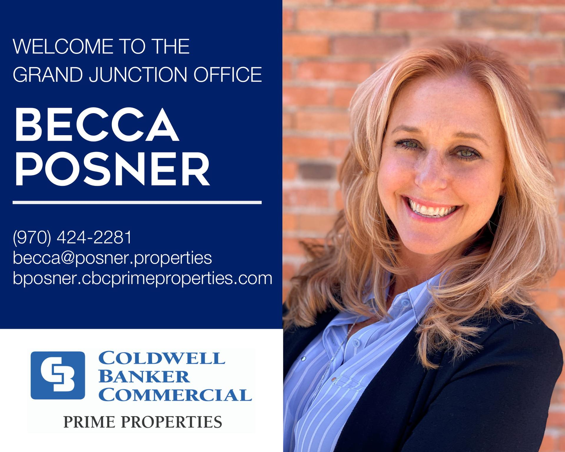 Please help us welcome Becca Posner to our Coldwell Banker Commercial Prime Properties family! Main Photo