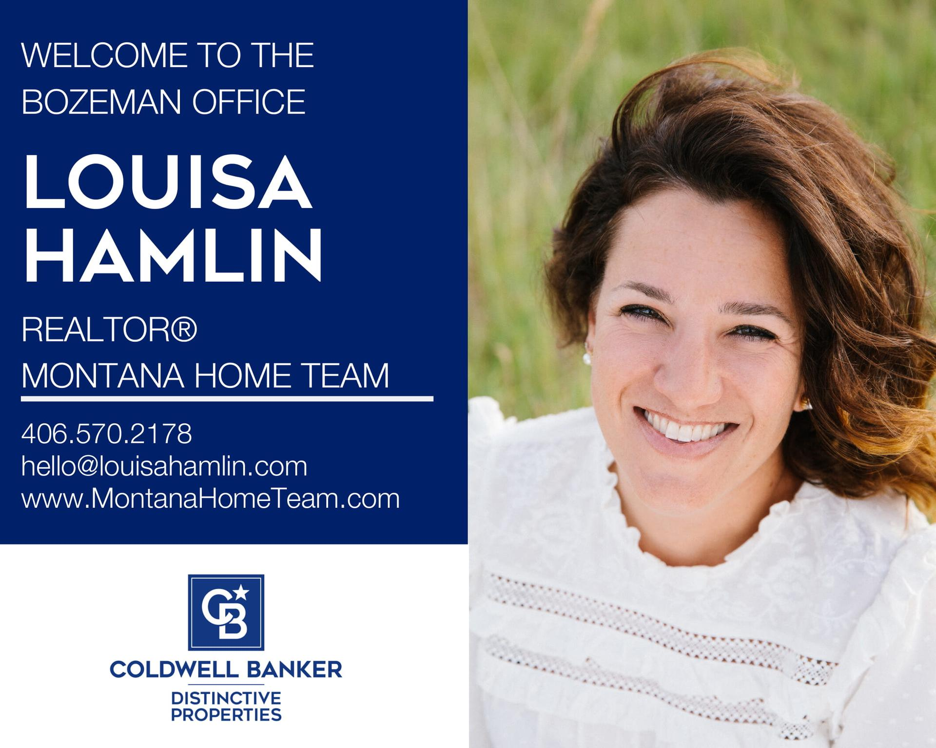 Please help us welcome Louisa Hamlin to our Coldwell Banker family! Main Photo