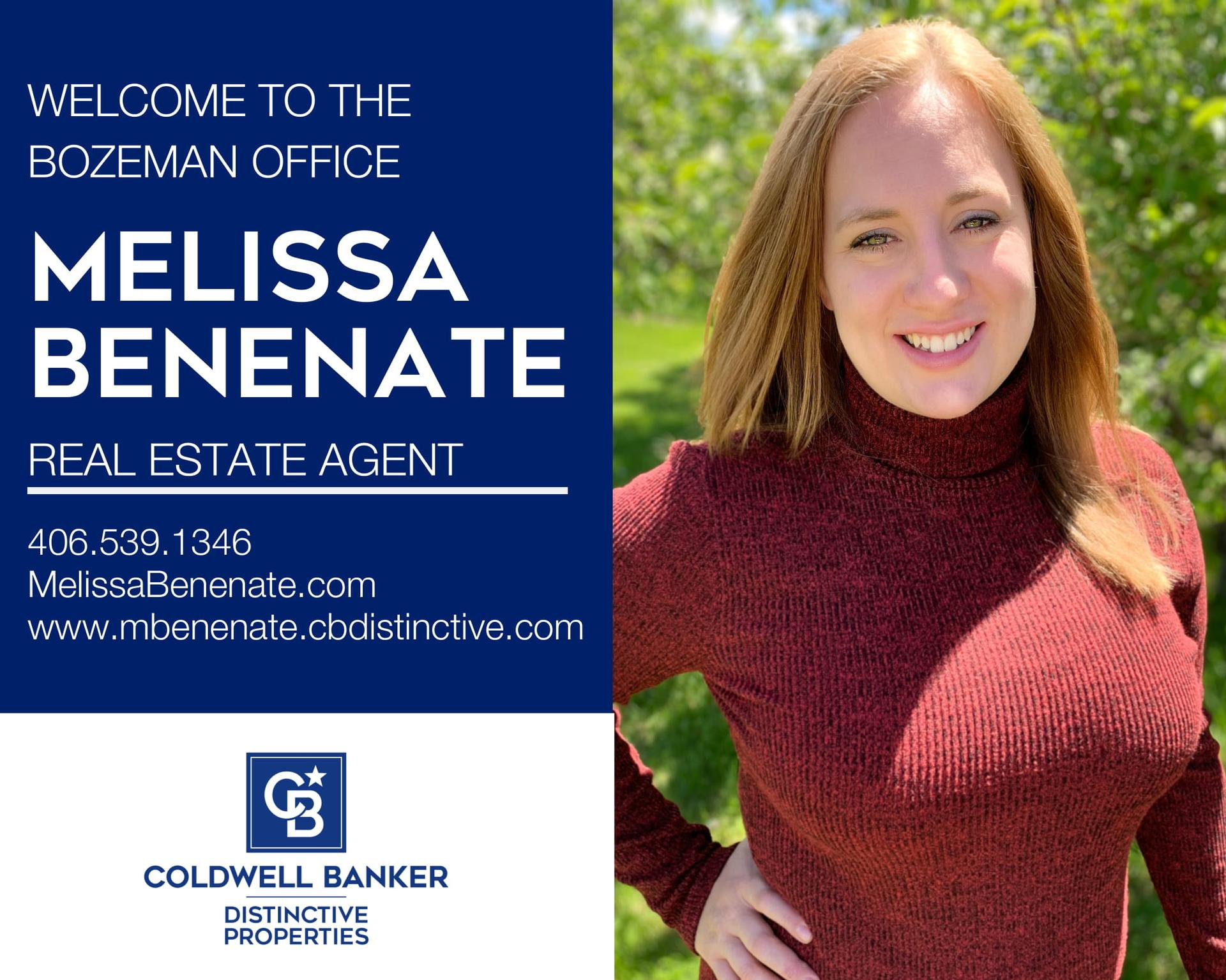 Please help us welcome Melissa Benenate to our Bozeman Office. Main Photo