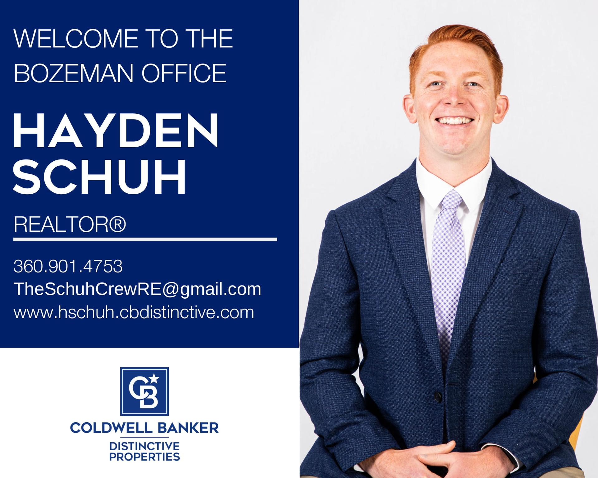 We are excited to announce that Hayden Schuh has joined Coldwell Banker Distinctive Properties! Main Photo
