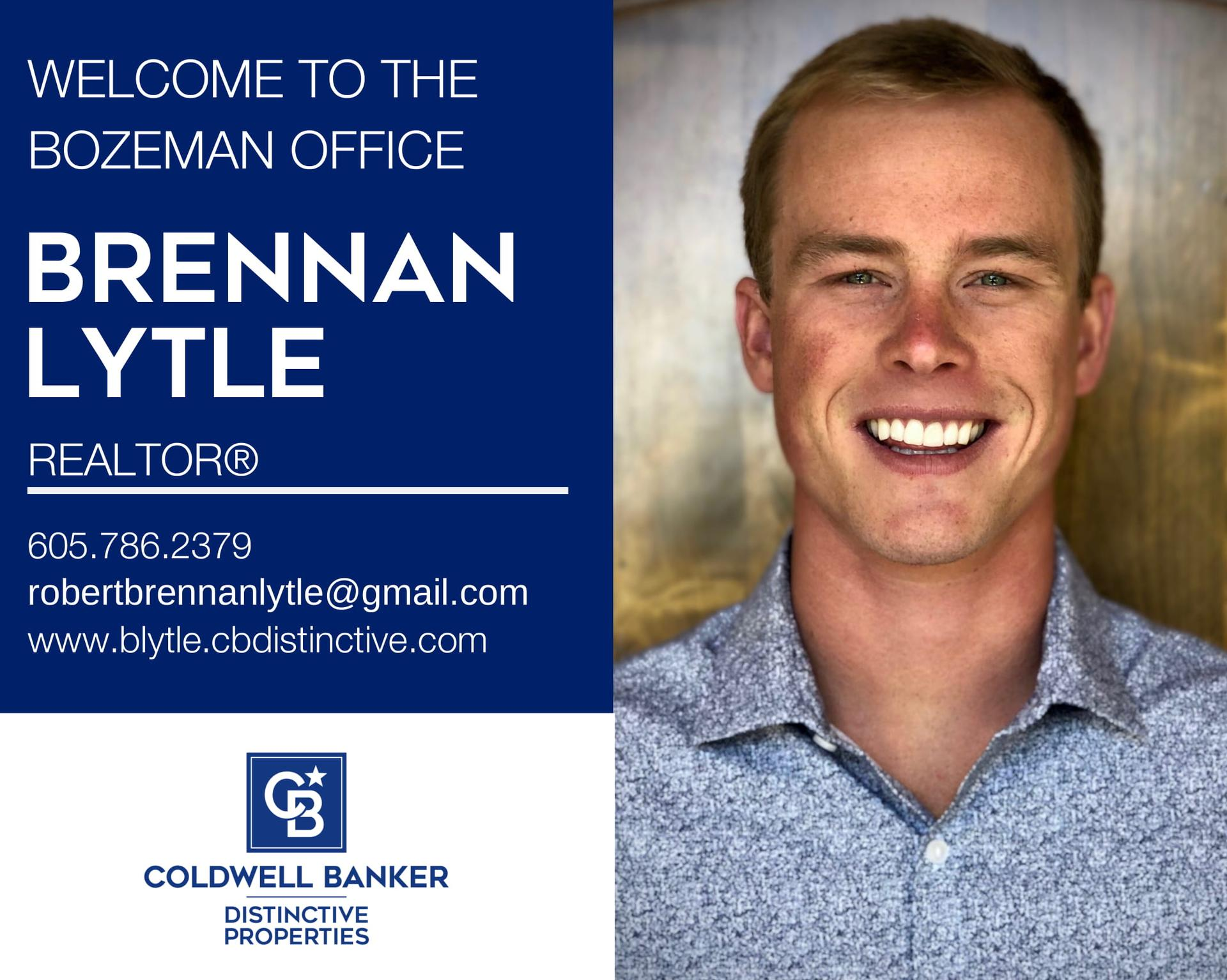 We are excited that Brennan Lytle has joined to our Coldwell Banker family! Main Photo