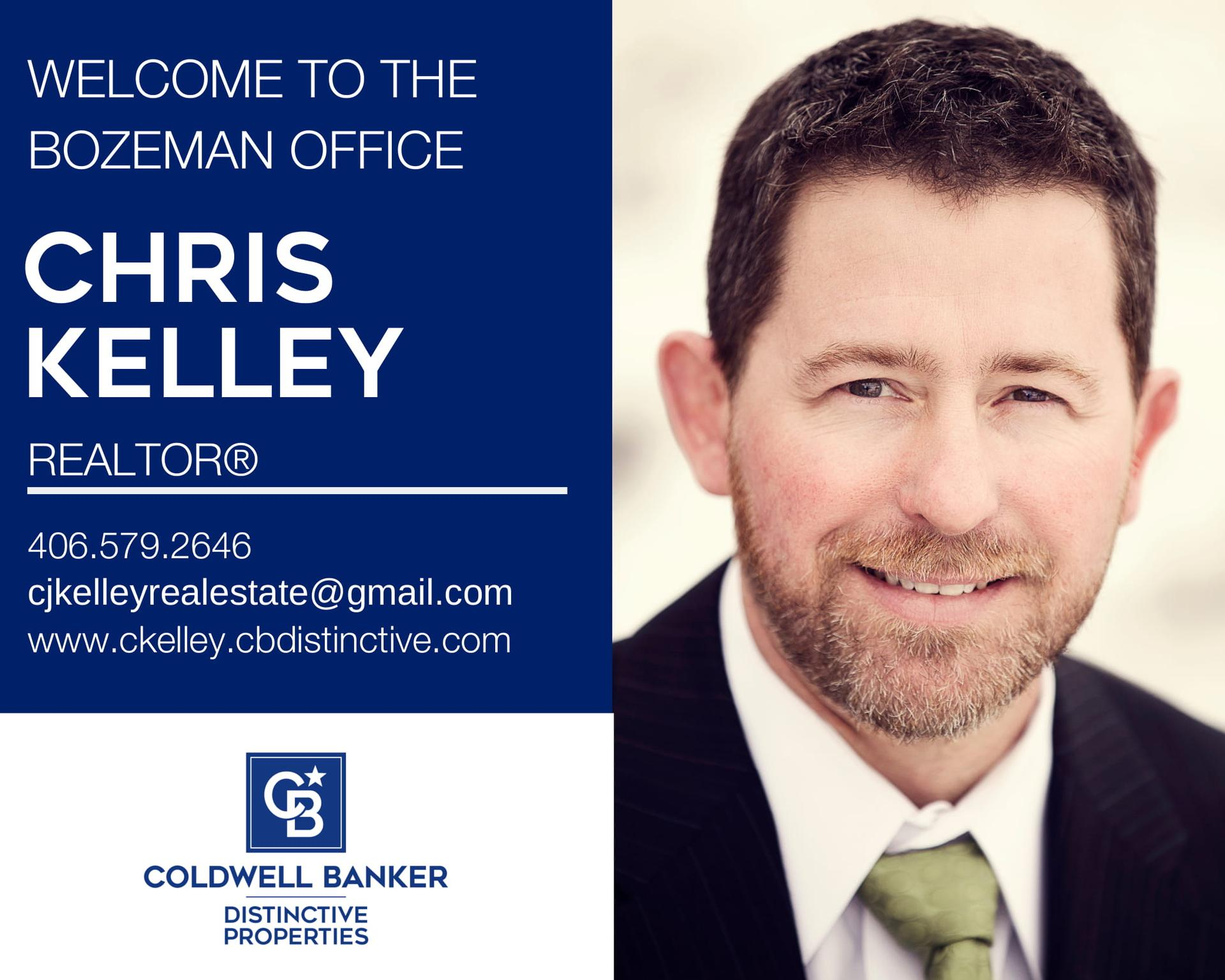 Please help us welcome Chris Kelley to our Coldwell Banker Distinctive Properties family! Main Photo