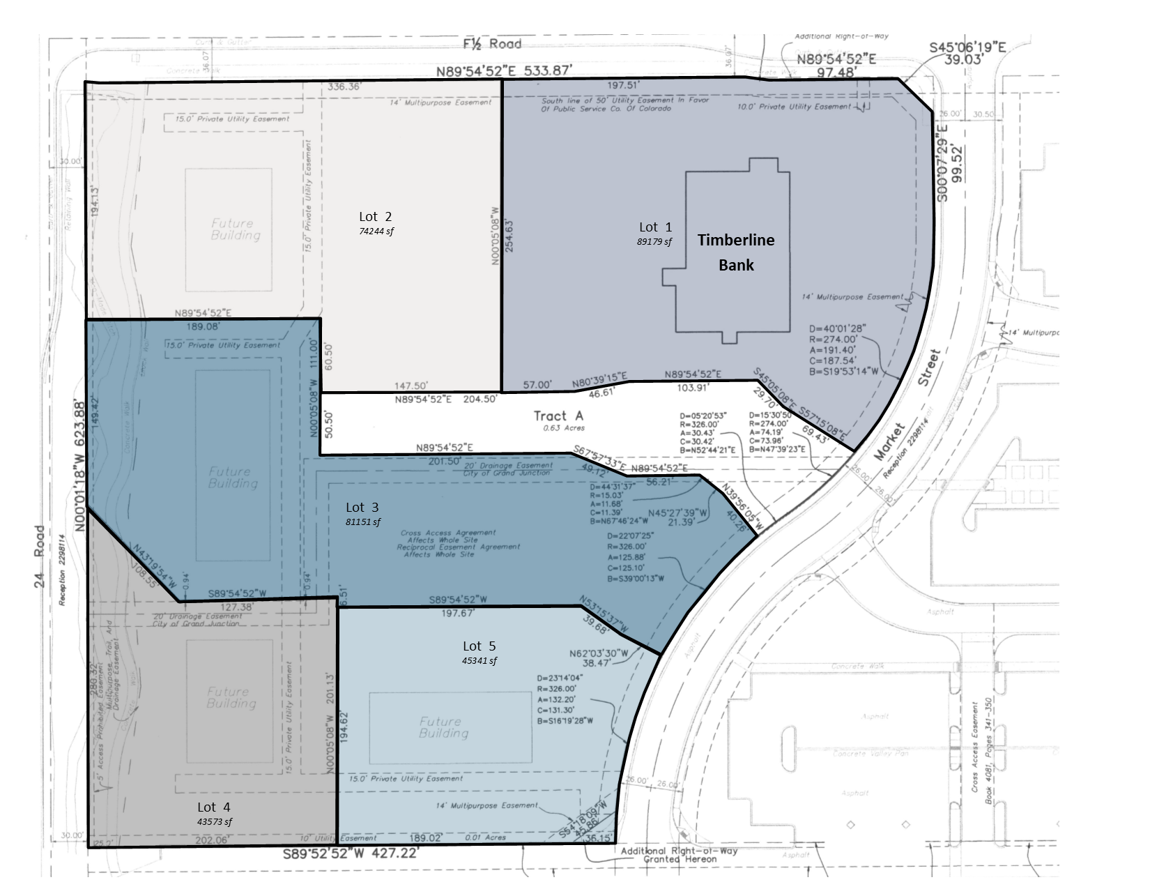 Timberline Center Lot Map