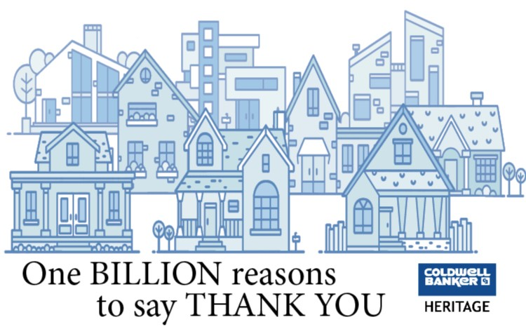 Coldwell Banker Heritage Exceeds $1B in Homes Sales Main Photo