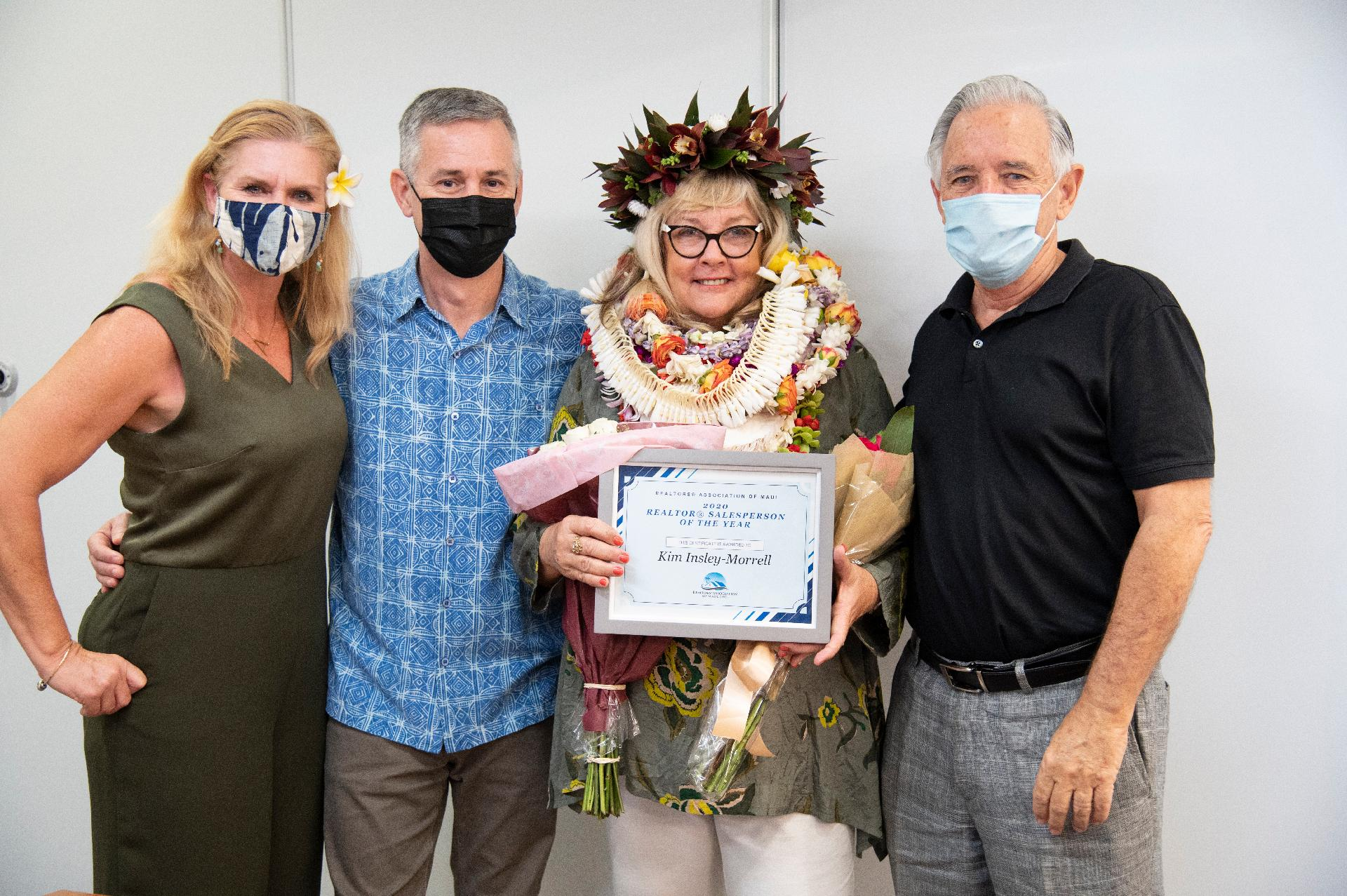 Kim Insley-Morrell awarded 2020 REALTOR® Salesperson of the Year on Maui Picture
