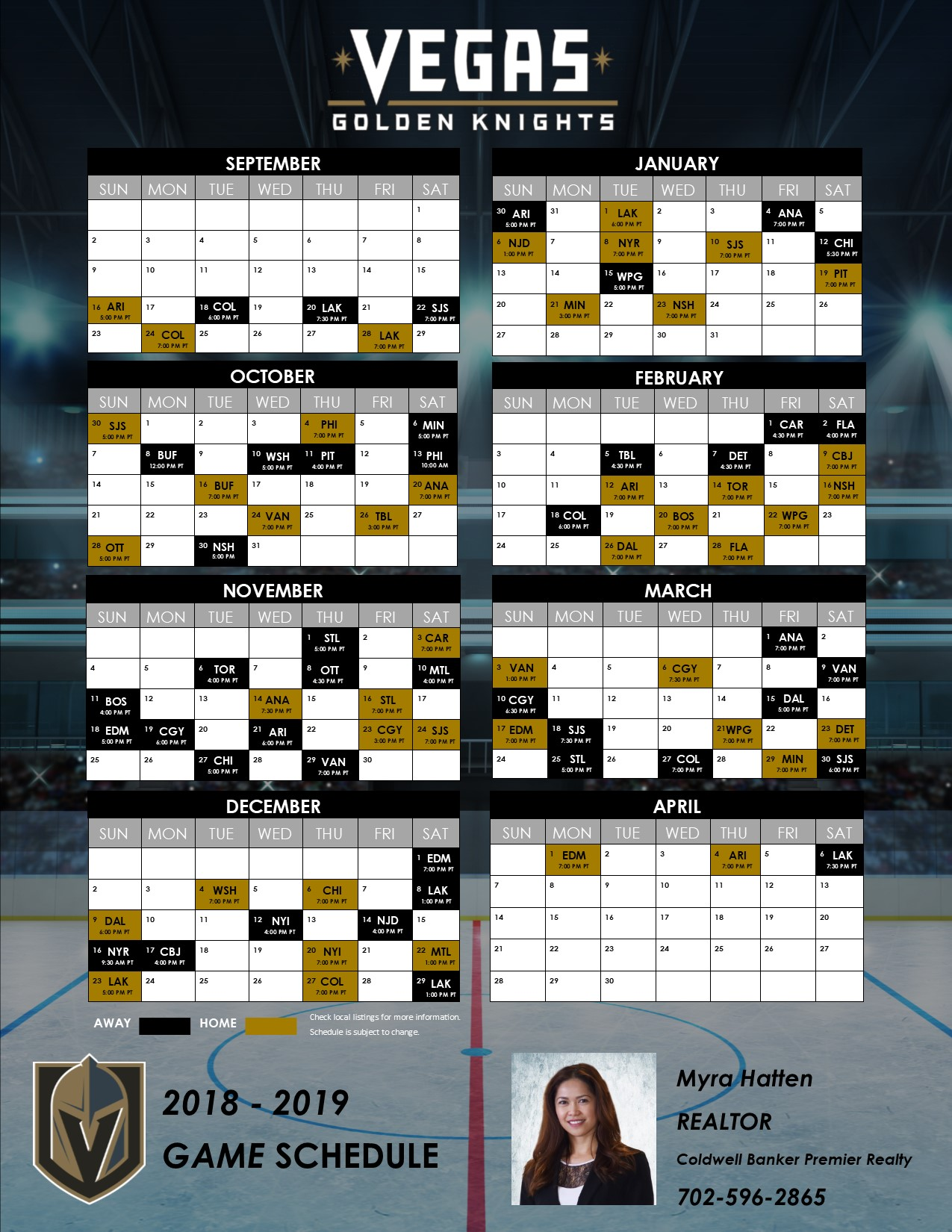 Vegas Golden Knights Game Schedule 28d673d0b