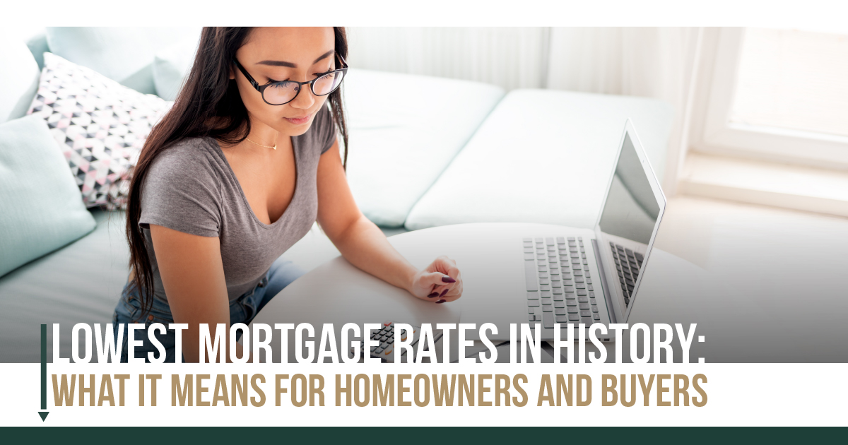 Lowest Mortgage Rates in History: What It Means for Homeowners and Buyers Main Photo