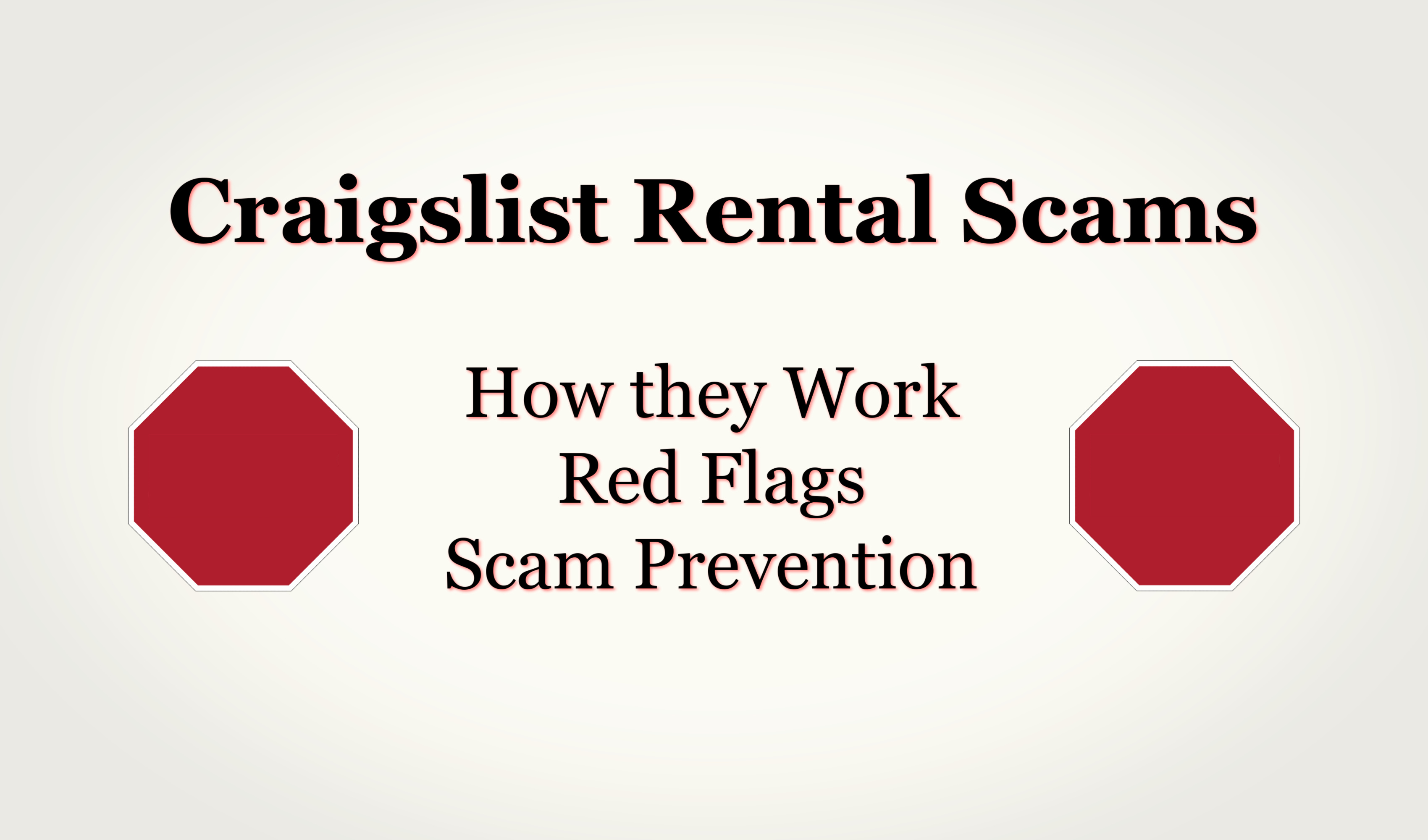 Craigslist Rental Scams