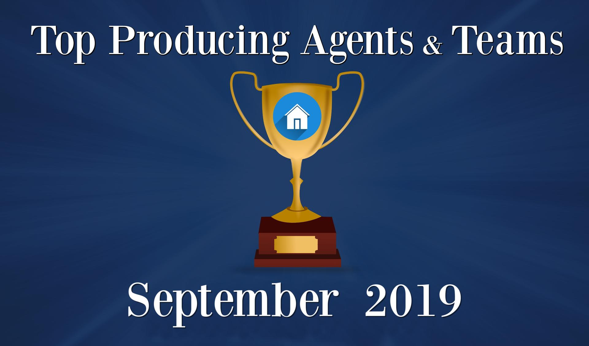 CONGRATULATIONS Top Agents and Teams - September 2019 Main Photo