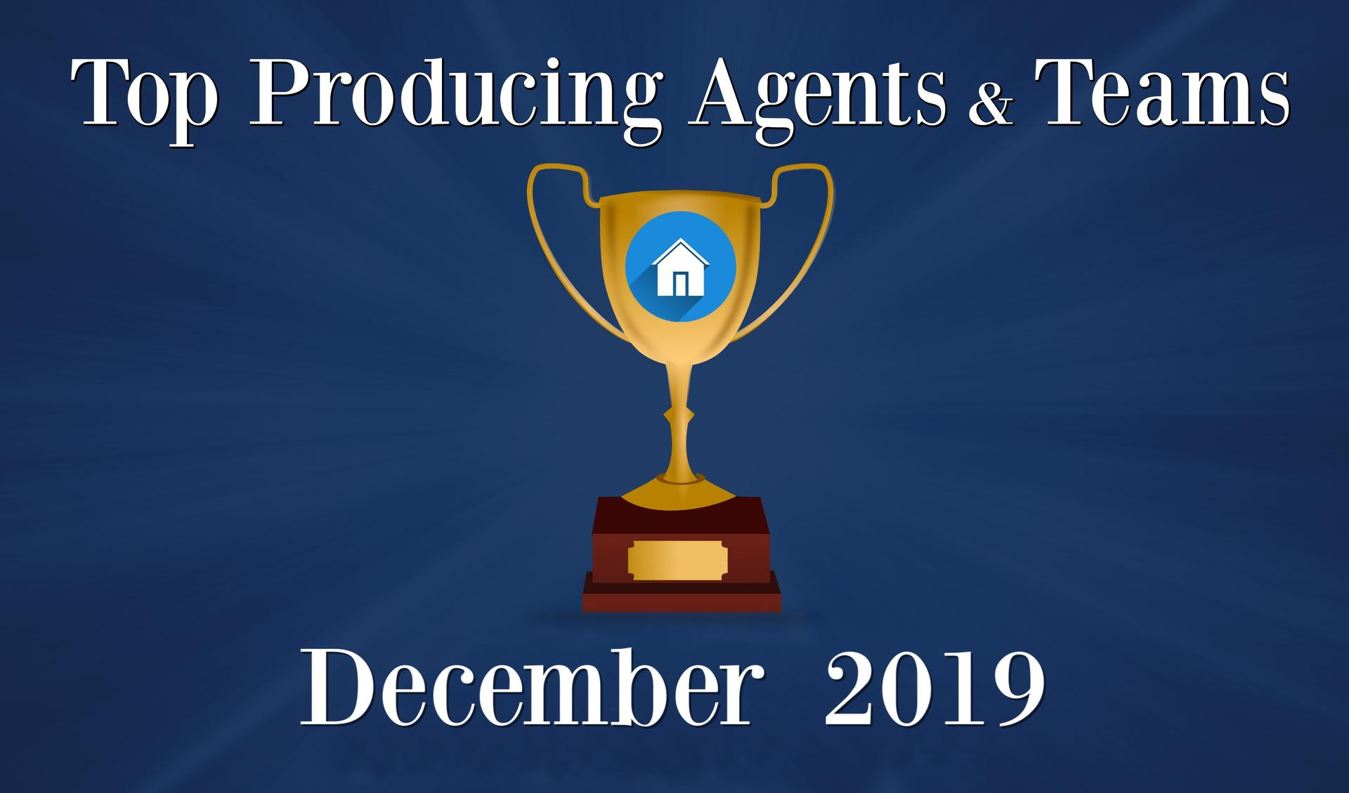 CONGRATULATIONS Top Agents and Teams - December 2019 Main Photo