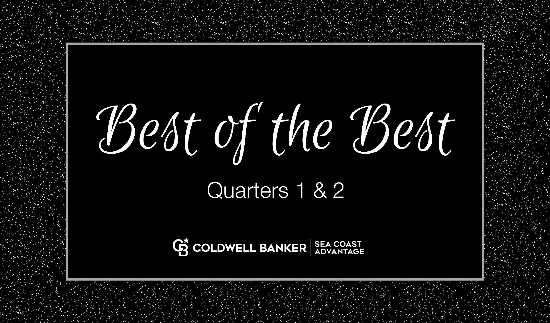 Congratulations to the Best of the Best Award Winners! Quarters 1 & 2 - 2021 Picture