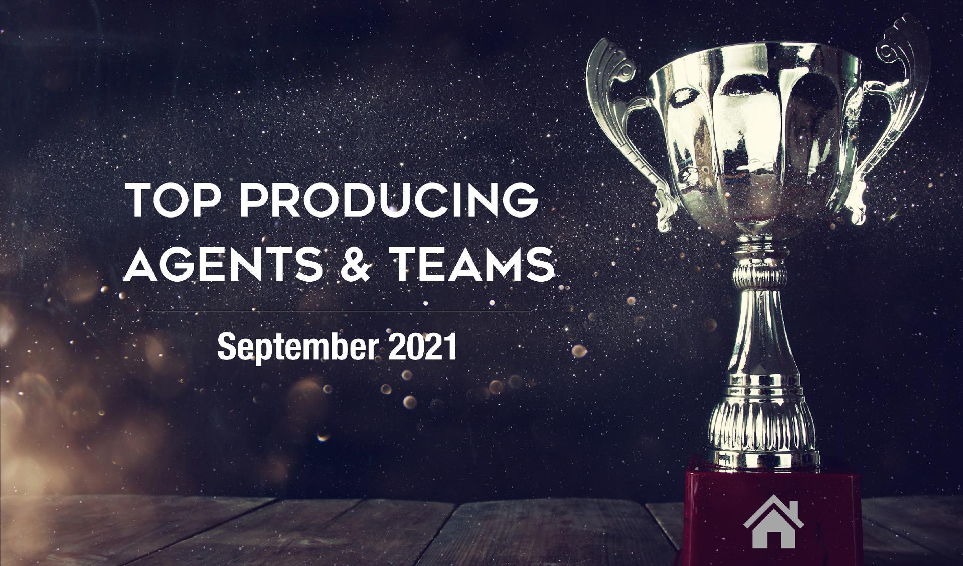 CONGRATULATIONS Top Agents & Teams! September 2021 - North Carolina Main Photo