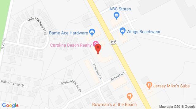North Lake Park in Carolina Beach Office Map Location