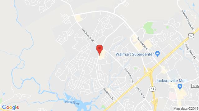 Henderson in Jacksonville Office Map Location
