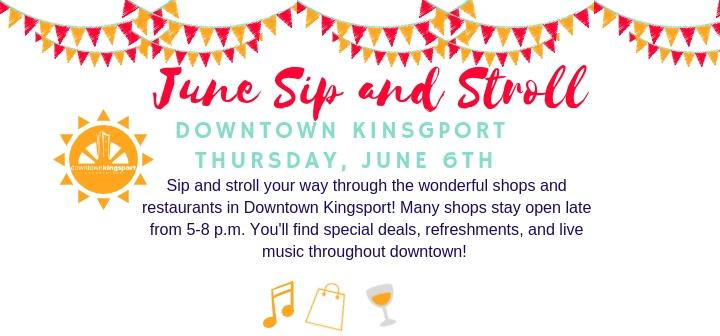 First Thursday Downtown Kingsport's Sip & Stroll Main Photo